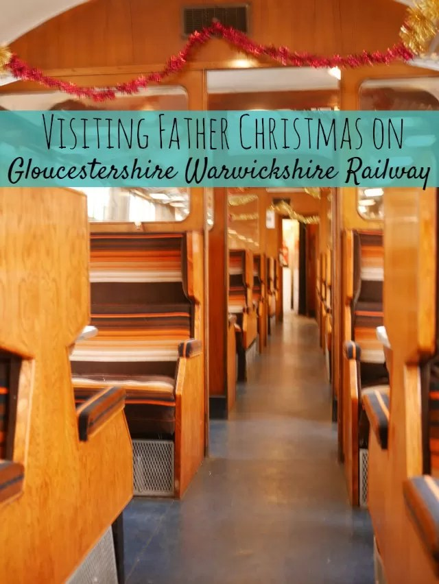 Visiting Father Christmas on Gloucester Warwickshire Railway - Bubbablue and me
