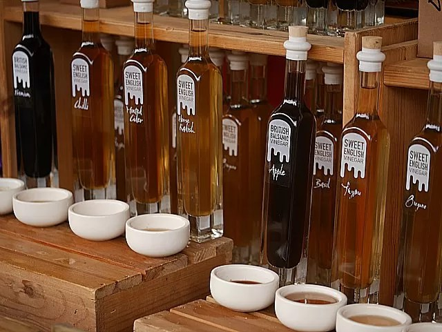 flavoured oils at Waddesdon Manor Christmas market
