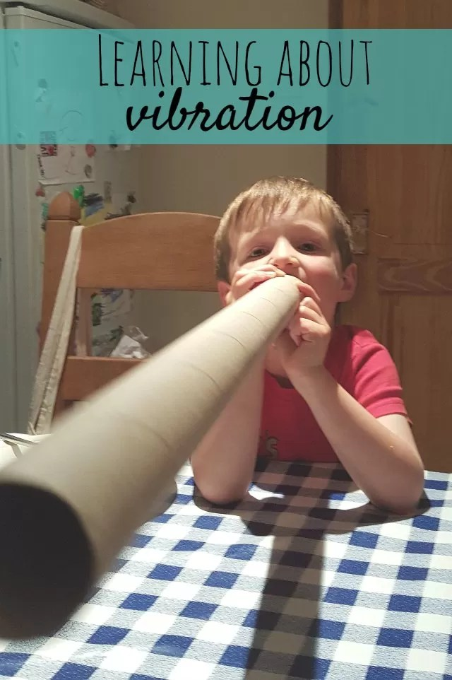 learning about vibration through upcycling cardboard tubes - Bubbablue and me