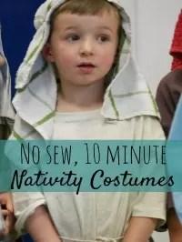 10 min nativity costume