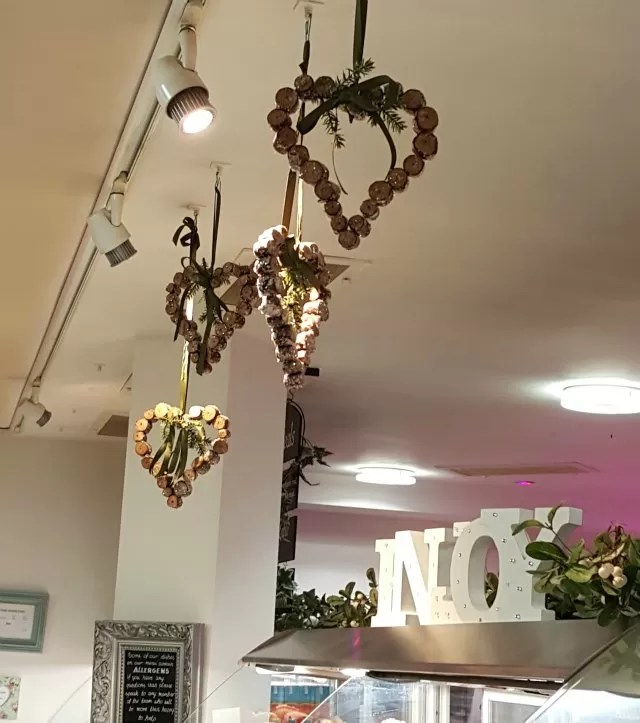 pretty decorations at Warwick Arts Centre cafe