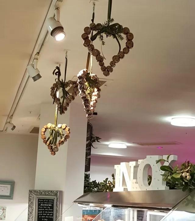 pretty decorations at Warwick Arts Centre cafe
