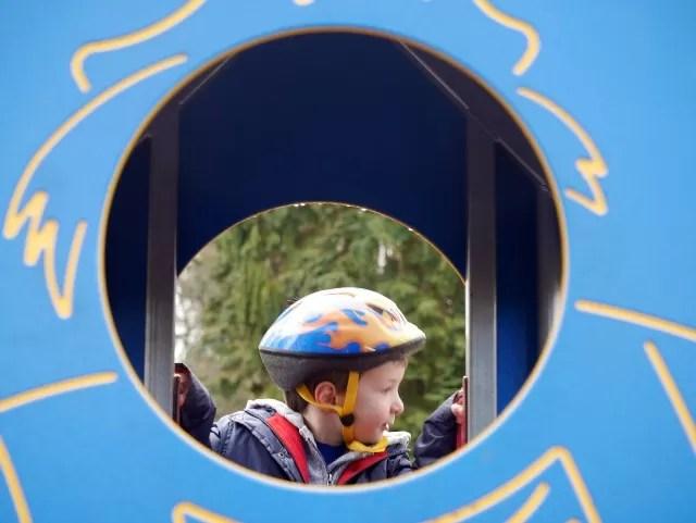 playground climbing frame portrait