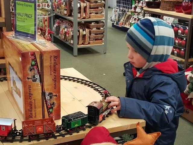 playing with the garden centre train