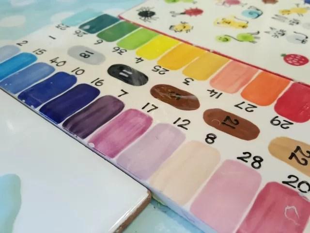 pottery painting colour tiles