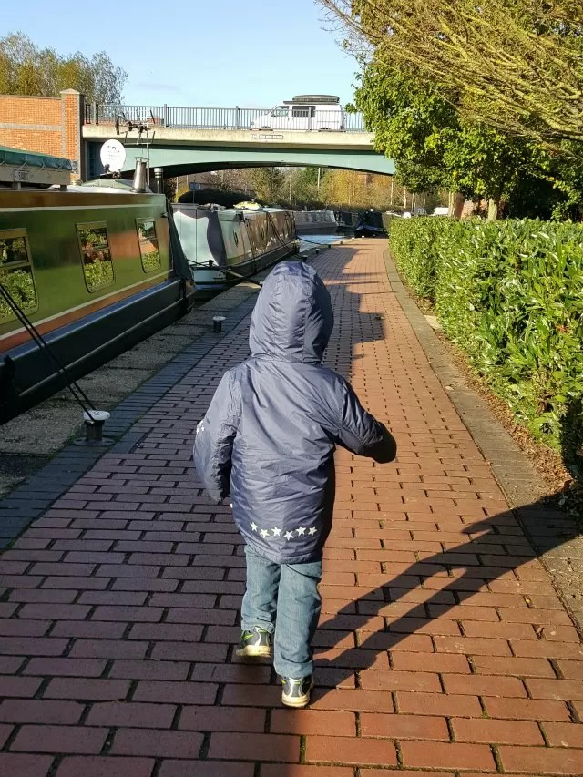 running alongside the canal