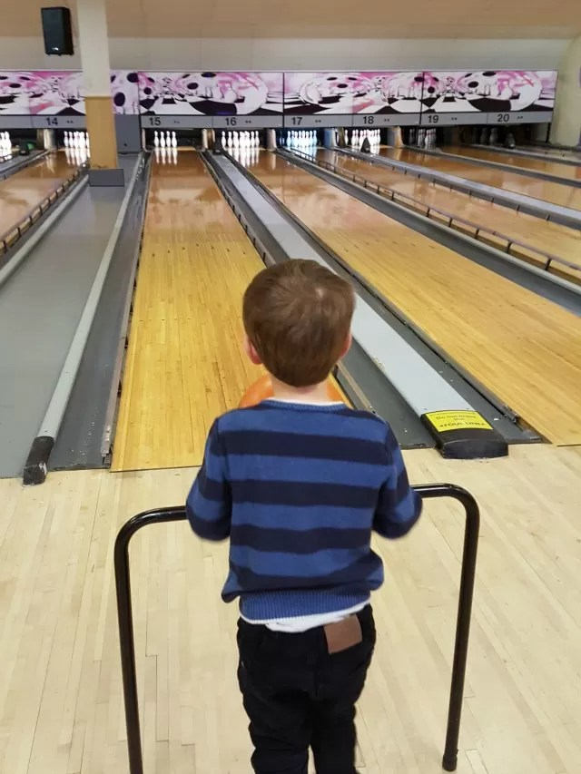 staring down the ten pin bowling lane