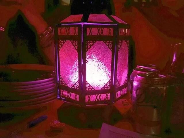 pink coloured indian lantern