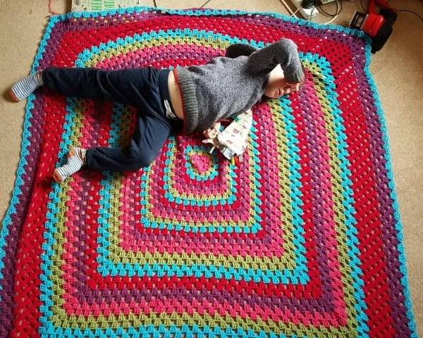 My Sunday Photo – granny square blanket