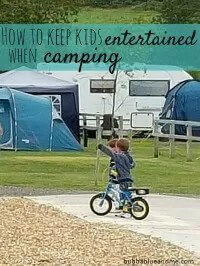 entertaining kids while camping