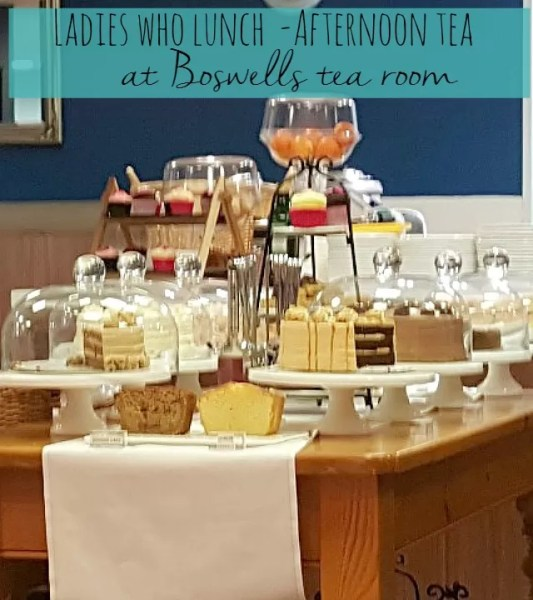 Ladies who lunch afternoon tea at Boswells Tea Room Oxford - Bubbablue and me