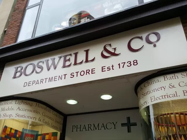 boswells Oxford shop front