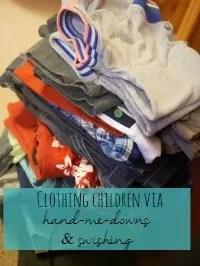 kids clothing handmedowns or swishing