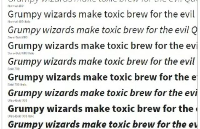 google fonts example