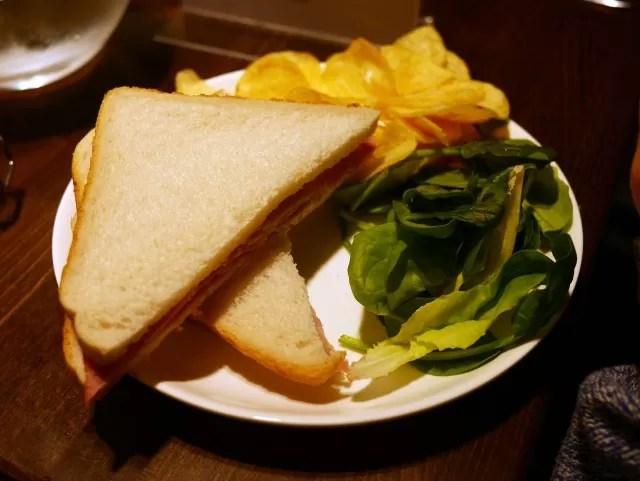 ham sandwich at Boswells Oxford