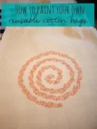 paint a reusable bag=