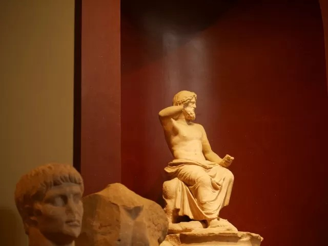 statue in the Ashmolean museum
