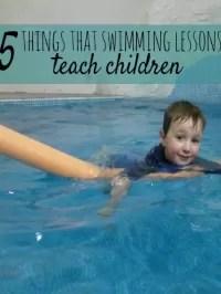 swimming teaches children