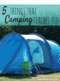 what camping teaches you