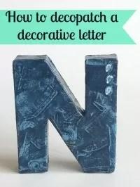 decopatch letter decoration