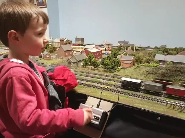 driving the model trains
