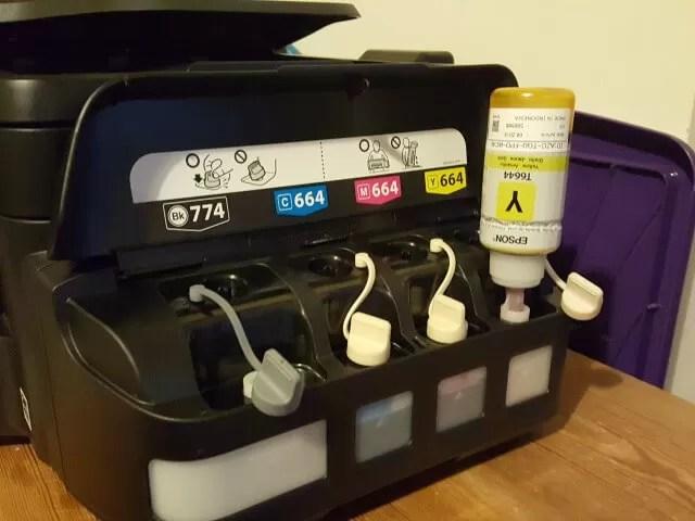 ecotank printer ink filling