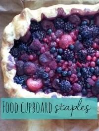 food cupboard staples