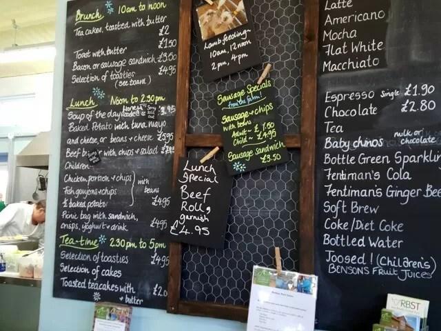 food menu at Green Dragon eco farm