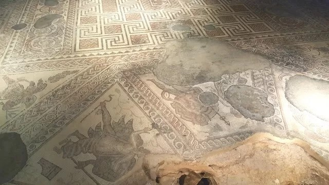 mosaic at Chedworth Roman Villa