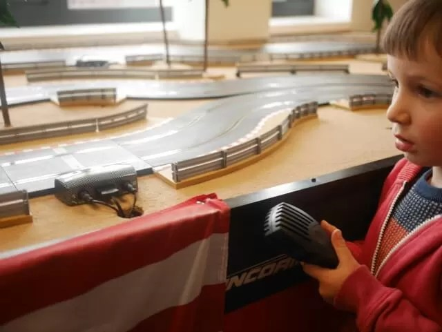 playing scalextric
