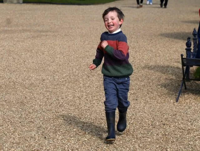 playing tag at Waddesdon Manor