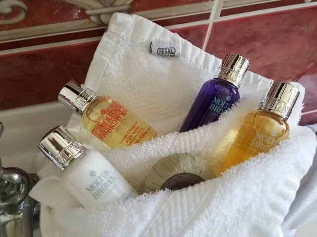 Moulton Brown toiletries at Grand Hotel Eastbourne