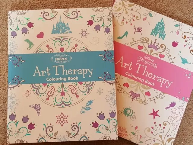 art therapy disney colouring books