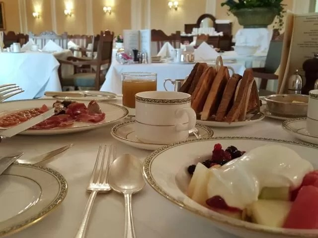 breakfast at Grand hotel Eastbourne