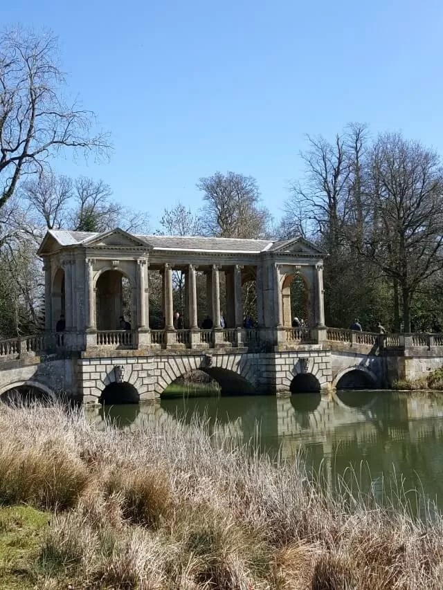 bridge over the lake at Stowe Gardens