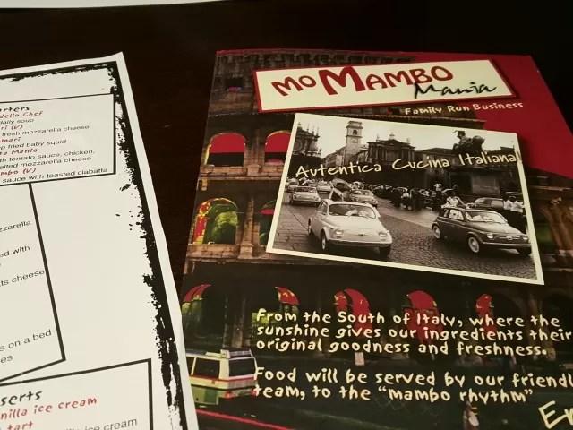 mo mambo restaurant menu