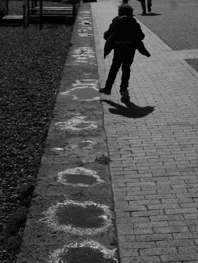 scooting along Eastbourne promenade
