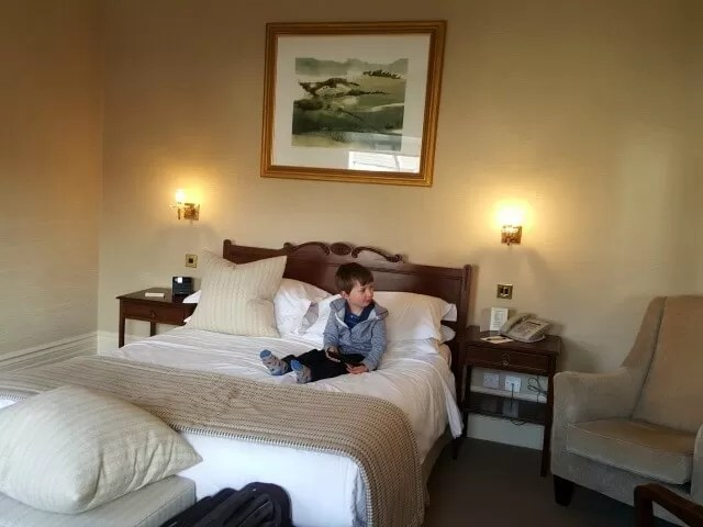 settling into the Grand Hotel Eastbourne room