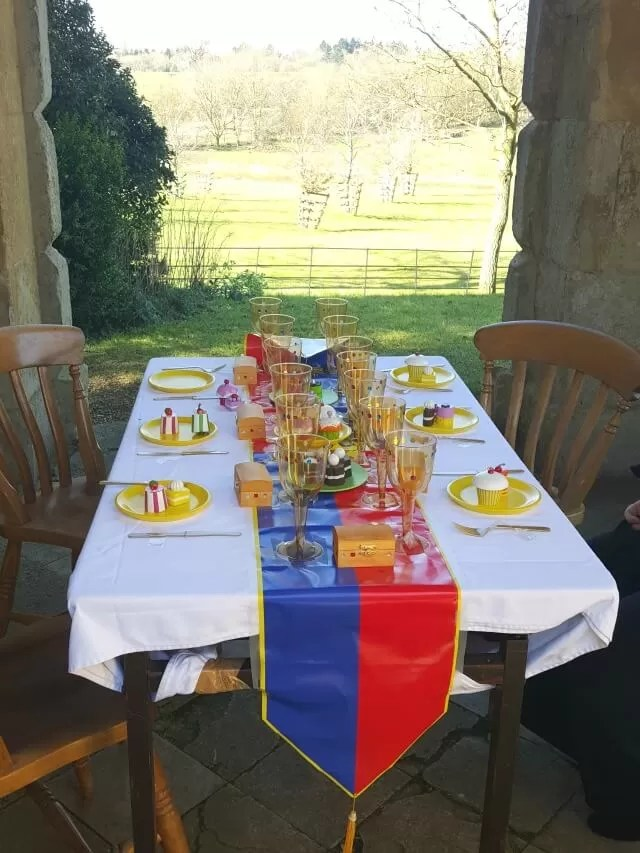 tea party set up at Stowe Gardens