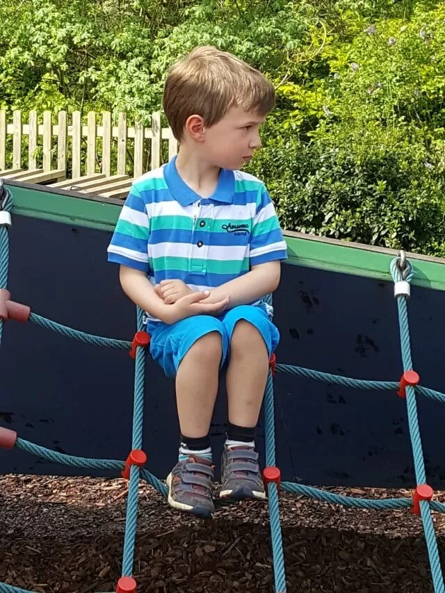 At Croome Park playground in mothercare outfit