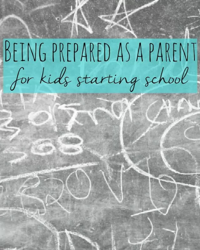 Being prepared as a parent for kids starting school - Bubbablue and me