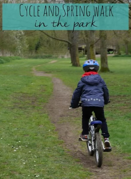 cycle and spring walk in the park - Bubbablue and me