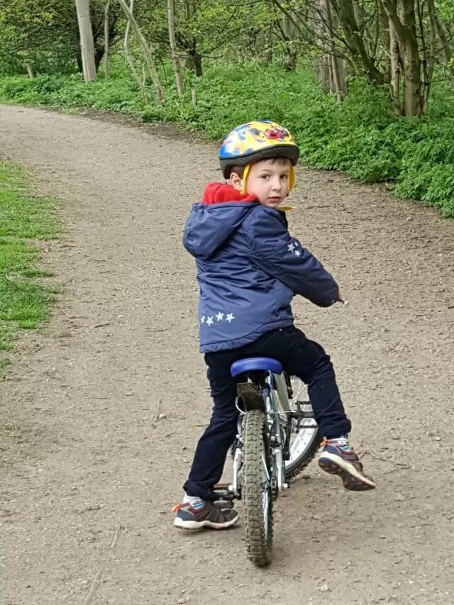 cycling at Spiceball park