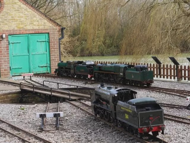 models at Eastourne miniature steam railway