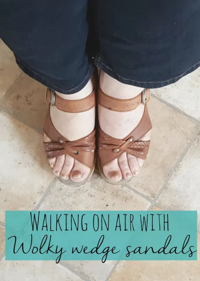 walking on aid with a review of Wolky Wedge sandals - Bubbablue and me