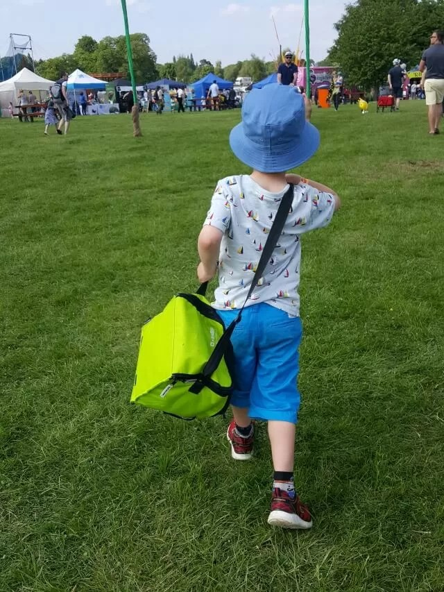 striding away with the picnic at Geronimo
