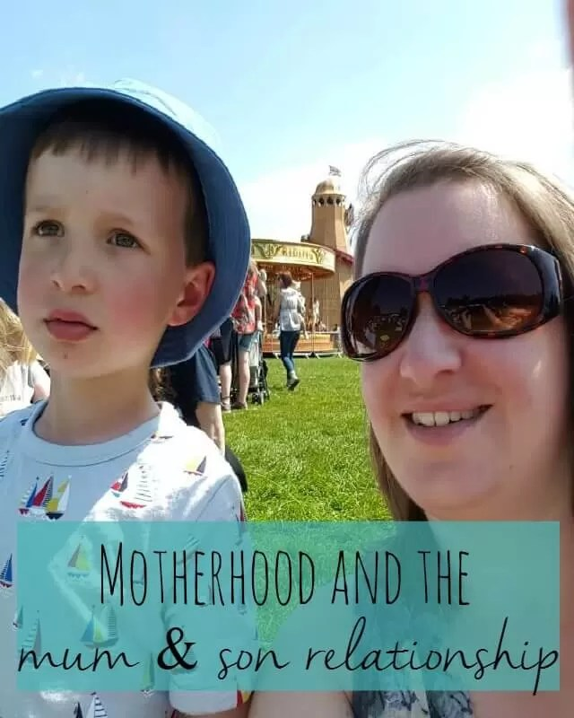 Motherhood and the mum and son relationship - Bubbablue and me