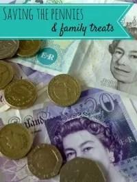 savings pennies for family treats