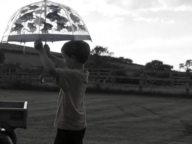 Umbrella posing