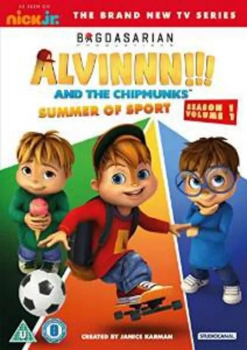 alvinnn and the chipmunks summer of sport dvd